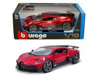 Bburago 1:18 Bugatti Divo Red and Carbon Fiber