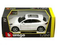 Bburago 1:24 scale white Porsche Macan in window box