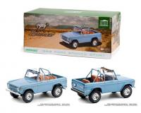 1:18 Brittany Blue Ford Bronco Sport in closed box