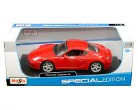Maisto 1:18 scale red Porsche Cayman S in window box
