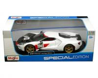 Maisto 1 18 scale white 2021 Ford GT Heritage Edition in window box