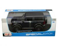 Maisto 1 18 scale dark blue 2021 Ford Bronco Wildtrak in window box