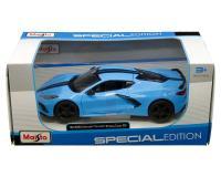 Maisto 1:24 2020 Chevrolet Corvette Stingray Z51 Blue with black stripes