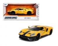 1:24 Yellow 2017 Ford GT in window box