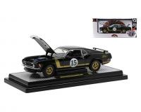 M2 Machines 1:24 scale black 1970 Ford Mustang BOSS 302 in window box