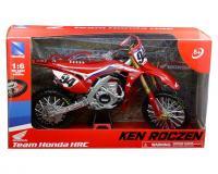 1:64 scale Red Honda CRF450 R Ken Roczen Team Honda HRC #94 in window box