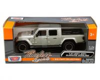 1:27 scale Silver 2021 Jeep Gladiator Overland hard top in window box