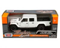 1:27 white 2021 Jeep Gladiator Rubicon with hard top in window box