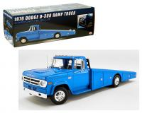 ACME 1 18 scale Corporate Blue 1970 Dodge D 300 Ramp Truck package and car