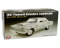 1:18 scale 1967 Plymouth Belvedere Lightweight Silver Bullet