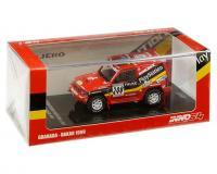 1:64 scale Red Mitsubishi Pajero Evolution #208 - Dakar 1999