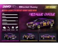 1:64 scale INNO64 x Rocket Bunny Nissan Silvia S14 Metallic Purple