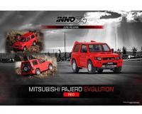 INNO64 Mitsubishi Pajero Evolution in red