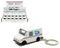 1:72 scale or 2.5 inch USPS LLV Mail Car Keychain in display tray