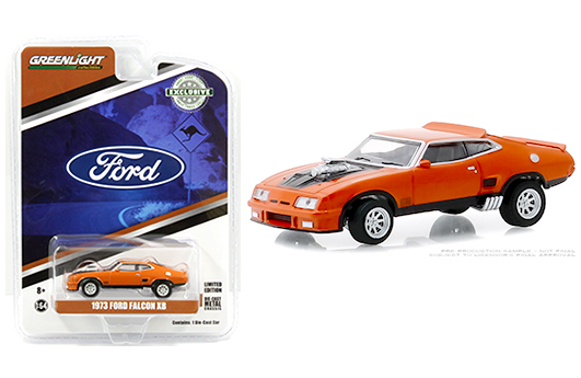NEW 1:64 GREENLIGHT MUSCLE SERIES 19 COLLECTION WHITE 1973 FORD FALCON XB Diecast Model Car By Greenlight