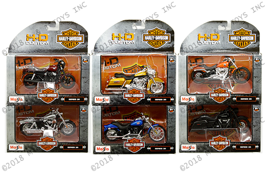 Maisto Motorcycles 1:18 Harley-Davidson | M and J Toys Inc  Die-Cast