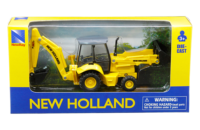 New Ray New Holland - Construction Backhoe and Loader B110C