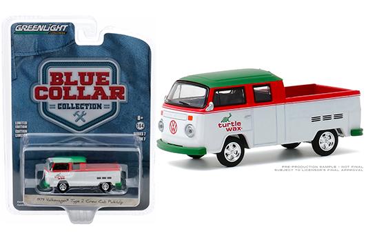 "Greenlight Blue Collar 1979 Volkswagen ""Turtle Wax"" crew cab pickup"