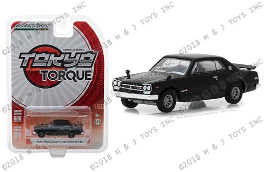 GREENLIGHT 1971 Nissan Skyline  2000 GTR TOKYO TORQUE Series 7 1:64 Scale Car