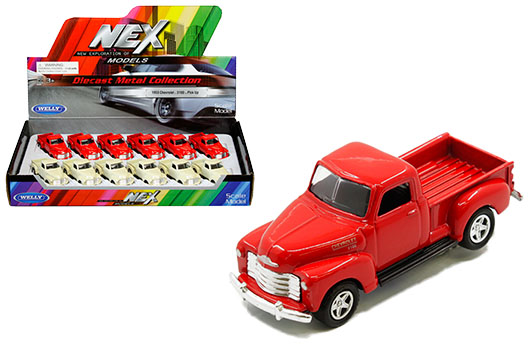 WELLY 1955 CHEVY STEPSIDE WHITE 1:34 DIE CAST METAL NEW IN BOX