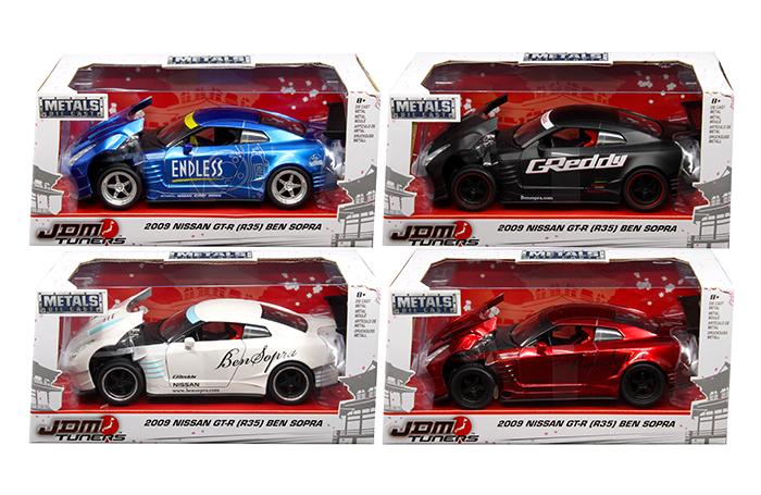 2009 Nissan GT-R R35 Ben Sopra JDM Tuners GREDDY White 1:32 Jada Toys 98574