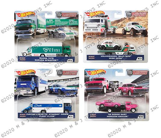 Set: 1 Hot Wheels Team Transport Mattel FLF56 16 17 18 Porsche Mazda Nr