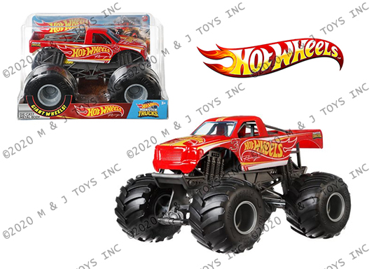 Hot Wheels 1 24 Monster Trucks Hot Wheels Racing Red M And J Toys Inc Die Cast Distribution