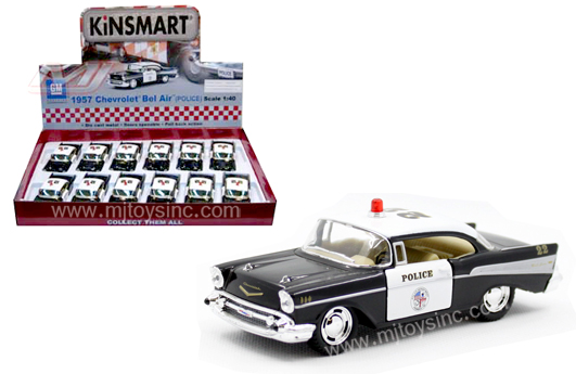 Kinsmart Display 140 1957 Chevrolet Bel Air Police 5 M And J