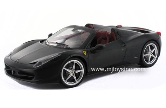 Hot Wheels 1:18 Elite Ferrari 458 Italia Spider (black